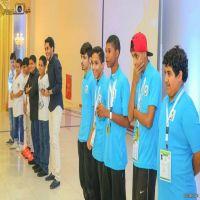 تكريم الفائزين ببطولة كرة القدم ضمن فعاليات أولمبياد إنسان الرياضية لعام 1435هـ